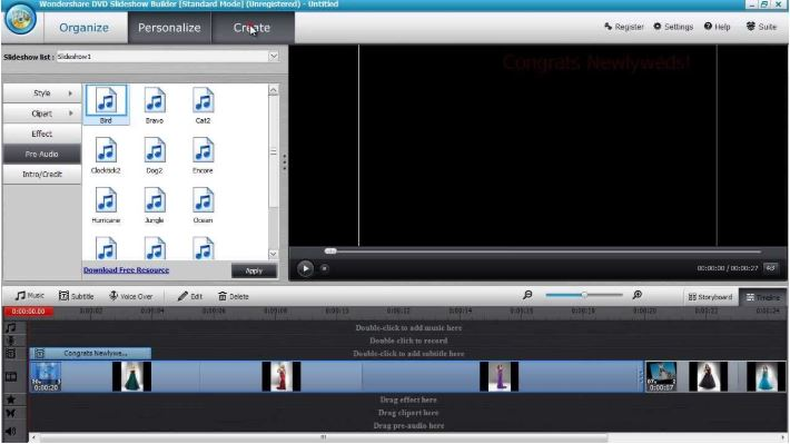 Wondershare DVD Slideshow Builder Deluxe.
