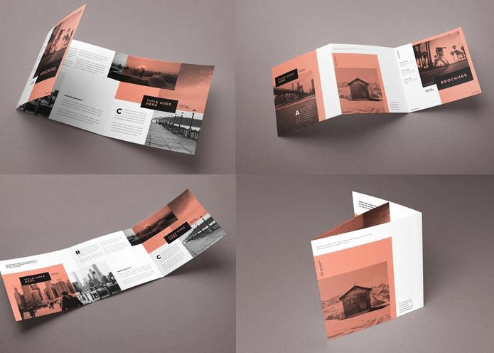 kích thước để thiết kế Brochure